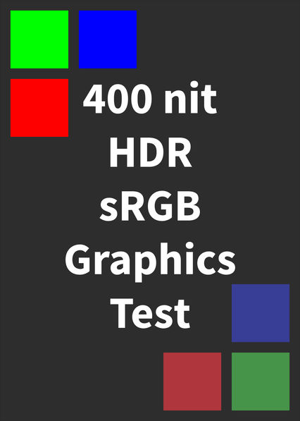 HDR sRGB Graphics Test (400 nits) on Netflix UK